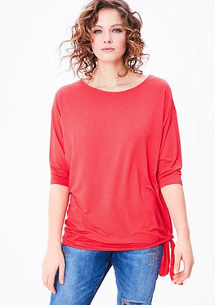 Jersey shirt met geknoopt detail
