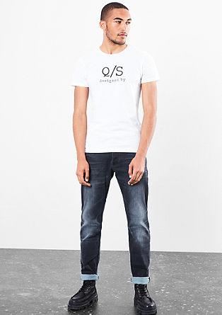 Jersey shirt met labelprint
