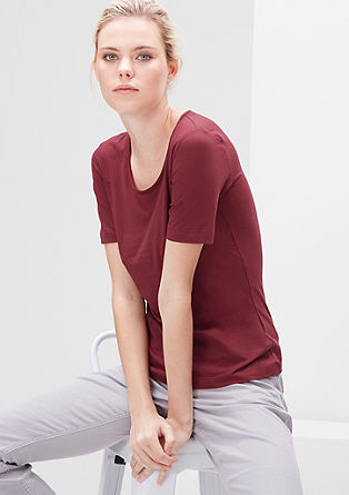 Jersey shirt met ronde hals