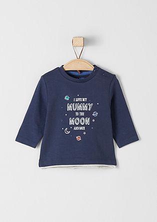 Jersey shirt met tekstprint
