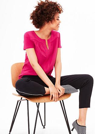 Jersey-Shirt mit Blusenfront
