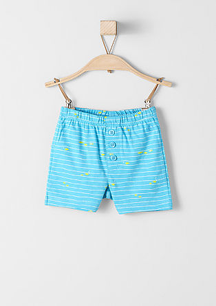 Jersey shorts with a fish print from s.Oliver