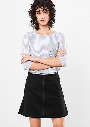 Jersey skirt with zip from s.Oliver