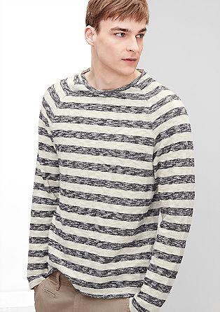 Jersey sweatshirt met slubeffect