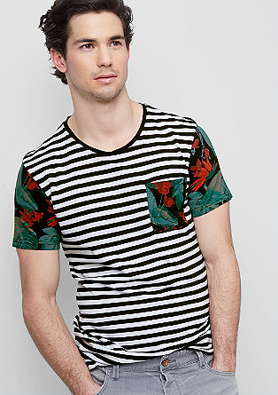 Jersey T-shirt in a mix of patterns from s.Oliver