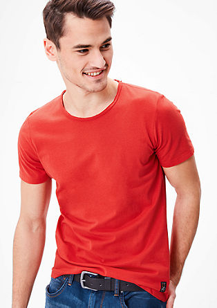 Jersey T-shirt in a slim fit from s.Oliver