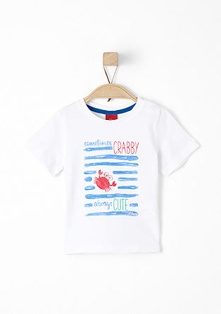 Jersey T-shirt with a front print from s.Oliver