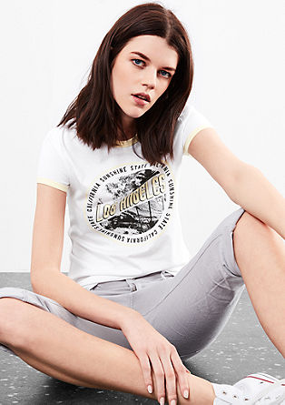Jersey T-shirt with a retro print from s.Oliver