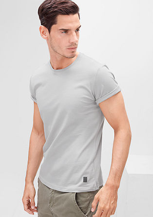 Jersey T-shirt with a round neckline from s.Oliver