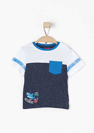 Jersey T-shirt with contrasts from s.Oliver