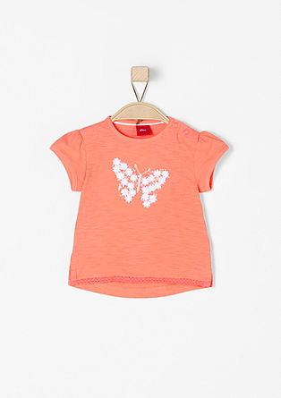 Jersey T-shirt with glitter appliqués from s.Oliver