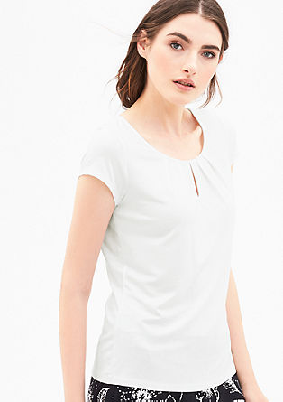 Jersey T-shirt with pleated details from s.Oliver
