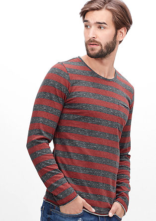 Jersey top with block stripes from s.Oliver