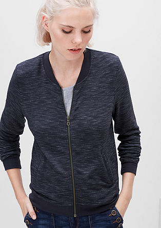 Jersey zip-up jacket from s.Oliver