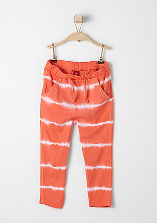 Jerseyhose in Batik-Optik