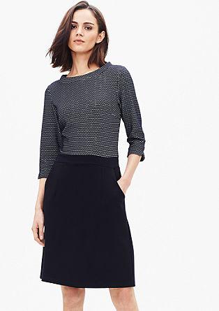 Jerseykleid mit Jacquard-Muster