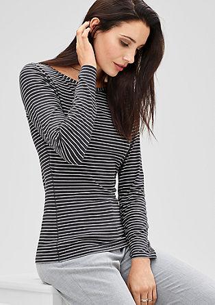 Jerseyshirt im Ringel-Look