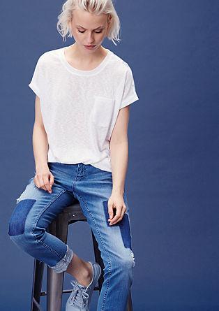 Jerseyshirt mit bedrucktem Rücken
