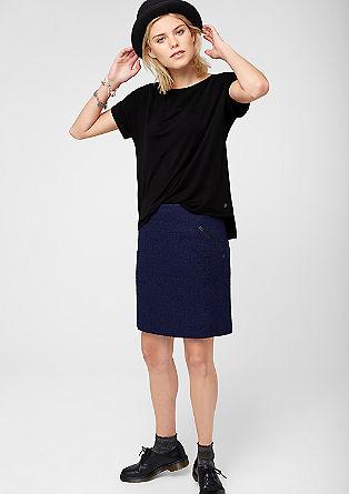 Jerseyshirt mit Crêpe-Passe