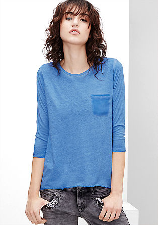 Jerseyshirt mit Crêpe-Rücken