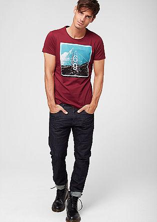 Jerseyshirt mit farbigem Print