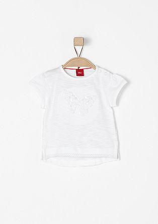Jerseyshirt mit Glitzer-Applikation