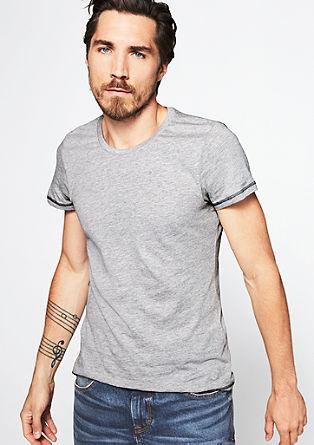 Jerseyshirt mit Kontrast-Nähten