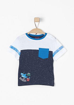 Jerseyshirt mit Kontrasten