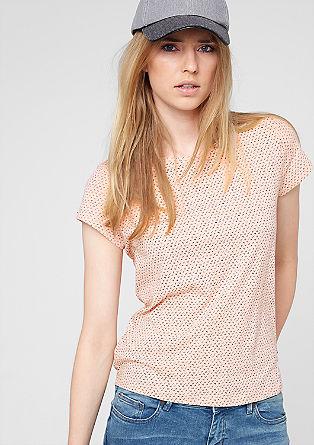 Jerseyshirt mit Mini-Muster