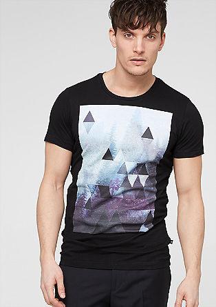 Jerseyshirt mit monochromem Print