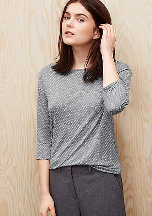 Jerseyshirt mit Muster-Print