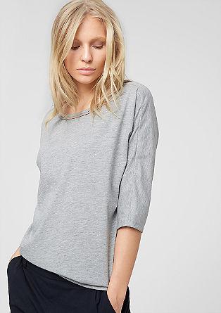 Jerseyshirt mit Schmuck-Kragen