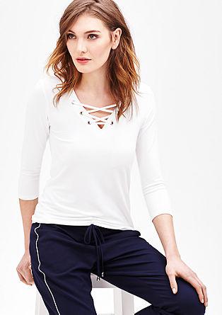 Jerseyshirt mit Schnürung