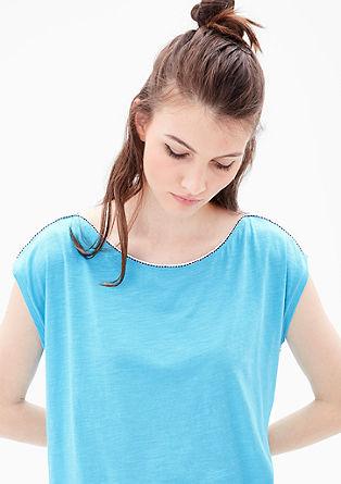 Jerseyshirt mit Zierpaspel