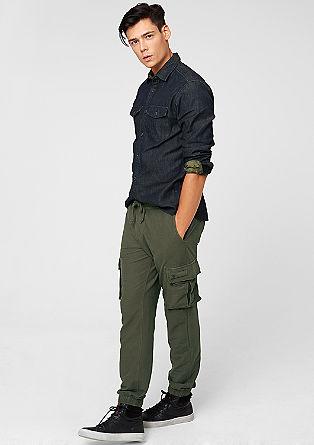 Jogger style pants met een cargolook