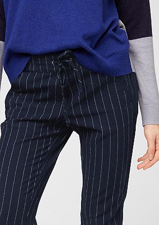 Jogger style pants met naaldstrepen