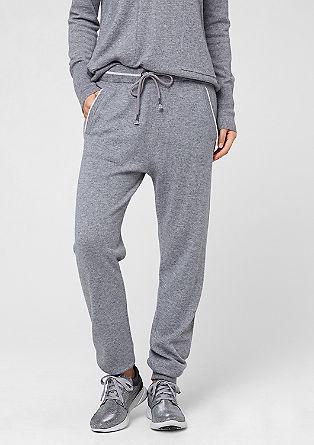 Jogger style pants van een kasjmiermix