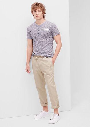 Jogging Pants aus Leinen-Mix