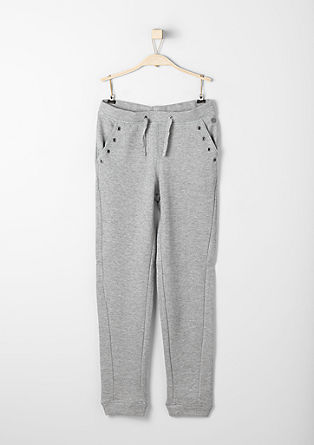 Jogging Pants in Glitzer-Optik