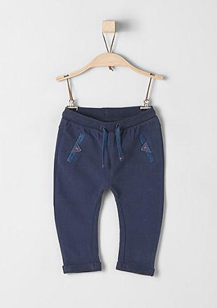 Jogging Pants mit Jeans-Details