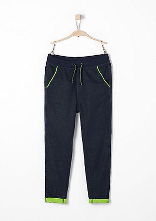 Jogging Pants mit Neonakzent