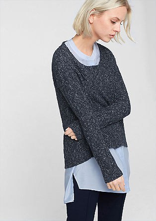 Jumper in a crocheted look from s.Oliver