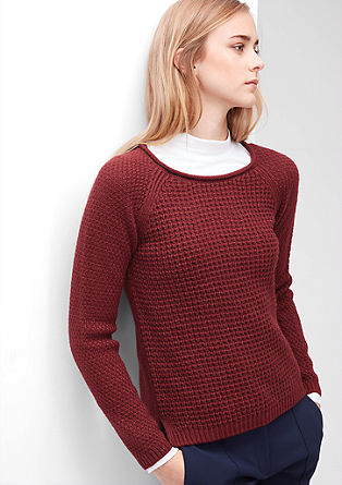 Jumper in a patterned knit from s.Oliver