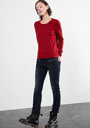 Jumper with a button placket from s.Oliver