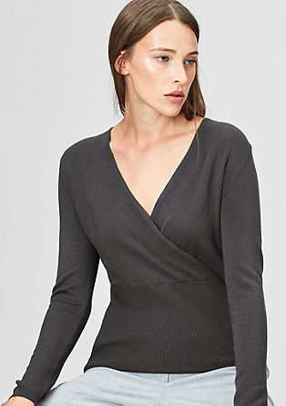 Jumper with a cache coeur neckline from s.Oliver