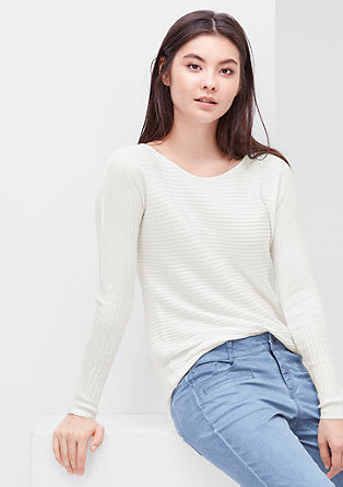 Jumper with a diagonal ribbed pattern from s.Oliver