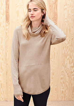 Jumper with a polo neck from s.Oliver