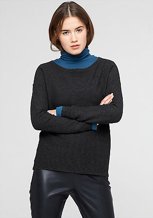 Jumper with a ribbed texture from s.Oliver