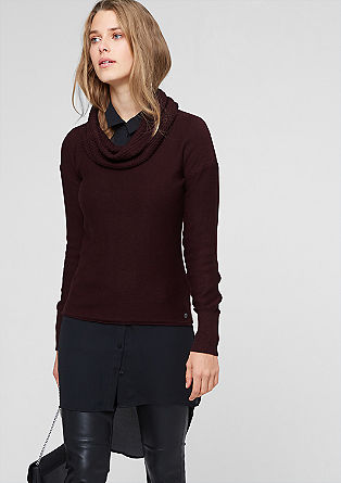 Jumper with a shawl collar from s.Oliver