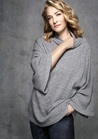 Jumper with a stand-up collar and a percentage of cashmere from s.Oliver